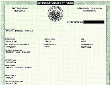 Birth Certificate 300