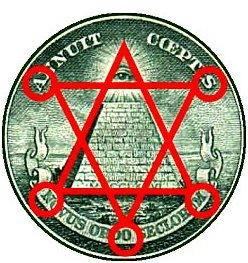 Great Seal 03 Front and Back on Dollar with Hexagram and Top Margin 250