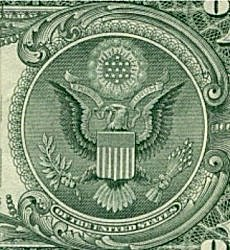 Great Seal 03 Front on Dollar 250