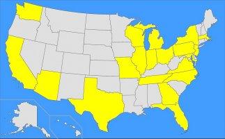US Map 20 States 200