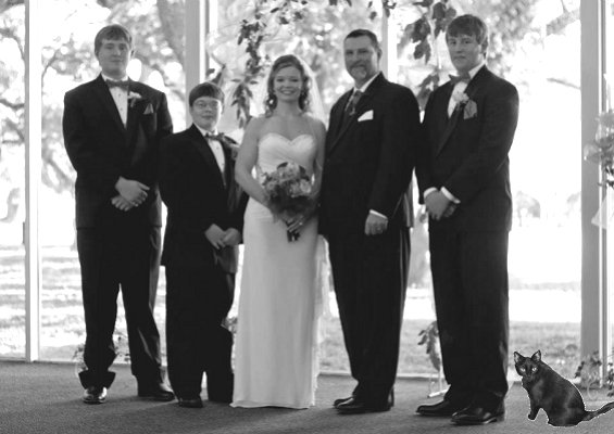 Adrienne with her men! Grey Scale 400