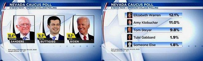 Nevada Caucus Poll 00 February 19-20 2020