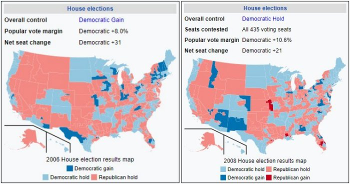 2006 and 2008 United States Elections 700W